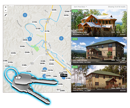 Pigeon Forge real estate websites